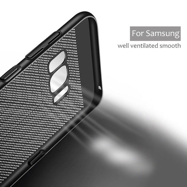 Luxury Heat Dissipation Case For Samsung Galaxy A8 J4 J6 Plus A7 2018 A5 A3 A7 2017 J5 2016 S8 S9 Plus S6 S7 Note 9 Cover Case