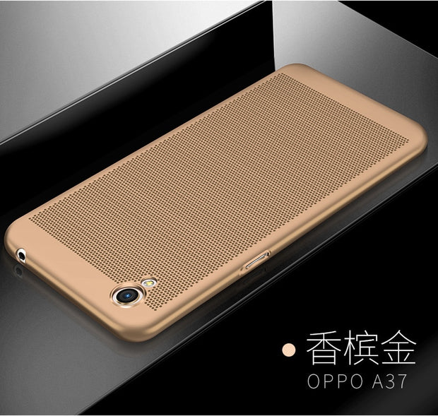 Luxury Heat Dissipation Case For OPPO FIND X F5 A73 F7 A83 A1 For VIVO V9 Y85 Z1 Thin Fashion Cellular Grid PC Cover Back Cover