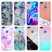 Luxury Marble Texture Stone Transparent Hard Phone Case Cover For Huawei Honor 8 9 Lite 10 10 Lite 8X 6X 7X 7S 4C 6C Pro