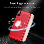 Luxury Matte Heat Dissipation Phone Case For IPhone XS MAX XR X Cooling Full Cover PC Shell For IPhone 6 6S 7 8 Plus 5 5S SE