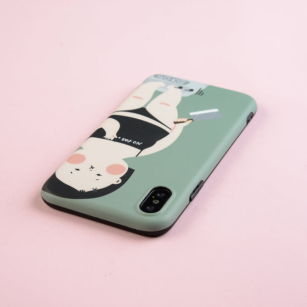 Luxury Matte IMD Soft Silicone Case For Apple IPhone 7 Plus 8 XR X 10 XS Max 6 6S Cover Cute Fat Girl Slim Coque Fundas Film