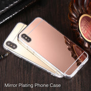 Luxury Mirror Case For IPhone X XS XR XS Max Ultra Slim Mirror Back Cover TPU Soft Silicone Phone Case For IPhone XS Max XS XR X
