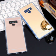 Luxury Mirror TPU Cases For Samsung Galaxy A750 A6 A8 J6 J4 2018 Note 9 8 S9 S8 A3 A5 A7 2017 Rose Gold Flash Fashion Soft Cover