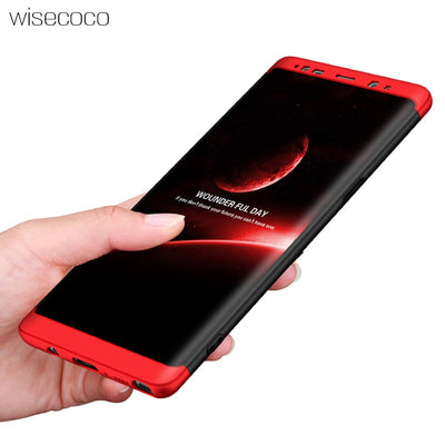 Luxury Phone Cases For Samsung Galaxy Note8 Accessories Hard Dual Armor Cover 360 Degree Protection Case For Galaxynote8 Casing