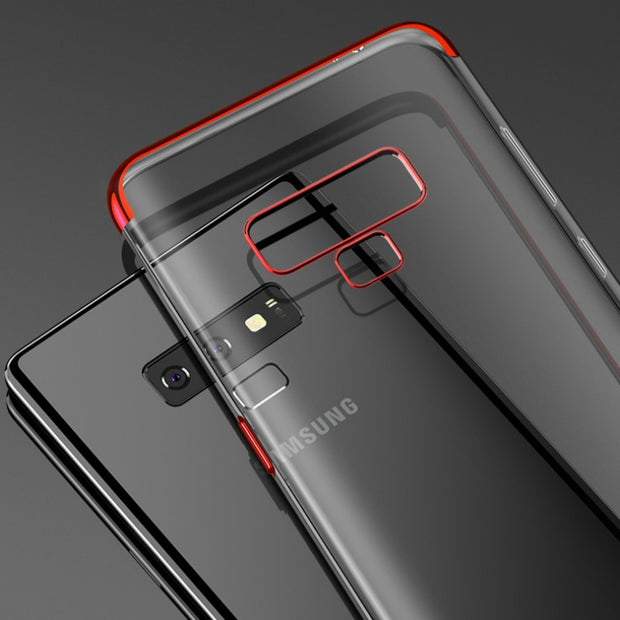 Luxury Plating Case For Samsung Galaxy A750 A8 A6Plus 2018 A3 A5 A7 Soft TPU Phone Bag For Galaxy Note9 Note8 S9 Plus S8+ S6 S7