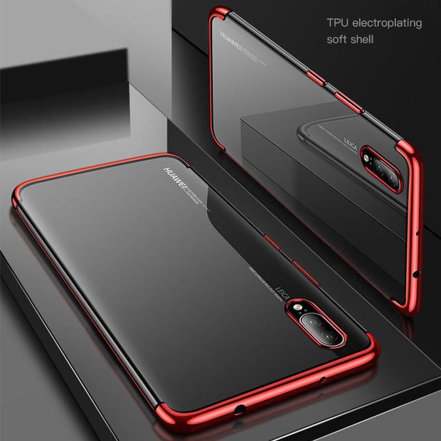 Luxury Plating Clear Soft TPU Case For Huawei Mate20 Lite/Pro P Smart Plus P20 P9 P10 Lite Nova 3i 3 Honor 10 9 Note 10 8X 7X 9i