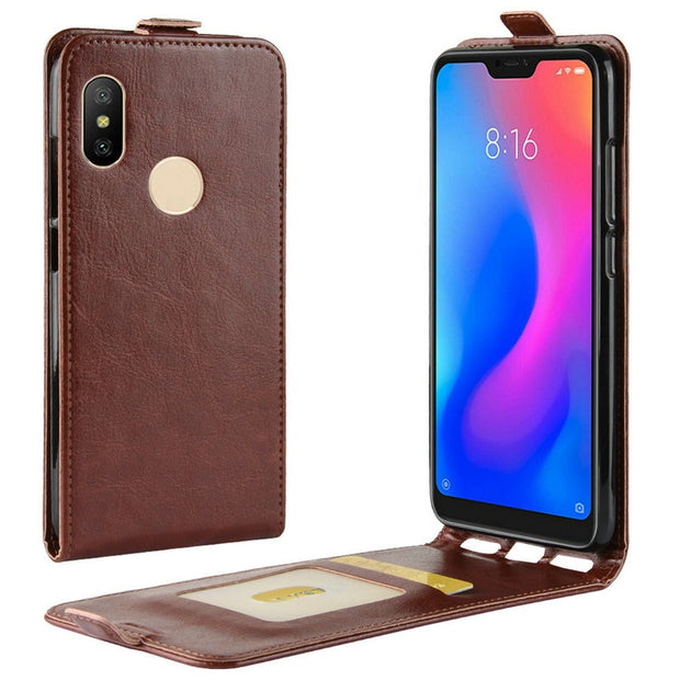 Luxury Retro Leather Cover Case For Xiaomi Redmi Note 6 Pro Redmi 6 Pro Redmi 6 Wallet Flip Leather Cases Coque Fundas Etui>