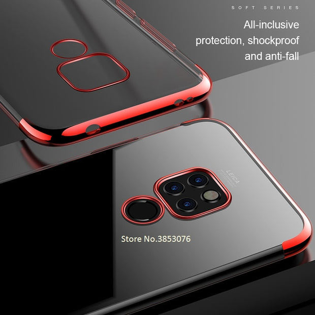 Luxury Soft TPU Case For Huawei Honor 8X Max Note 10 8C 6cPro Plating Cover For Huawei Matre 20 Pro Lite X Nova3 3i P Smart Plus