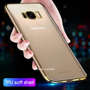Luxury Soft TPU Cases For Samsung Galaxy A9 A6 A8 Plus 2018 A9 Star A6S A9S A3 A5 A7 2017 Soft Touch Luxury Transparent Cover