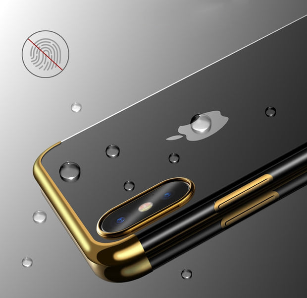 Luxury Silicon Transparent Soft Cases For Iphone 5 5s SE X 6 6s 7 8 Ultra Thin TPU Plating Case For Iphone 5 6 7 8 PLus Protect