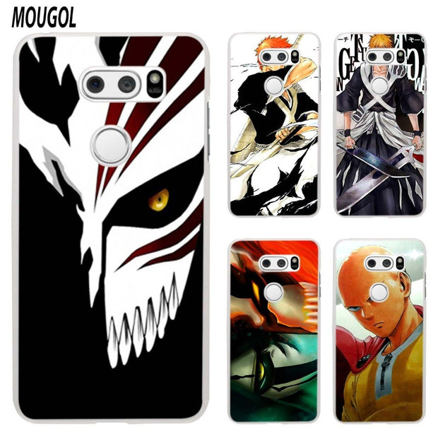 MOUGOL Anime Bleach One Punch Man Design Transparent Hard Case Cover For LG Q6 G3 G4 G5 G6 K4 K5 K8 K10 V10 V20 V30