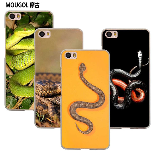 MOUGOL Colorful Adder Snake Transparent Case Cover Shell For Xiaomi Redmi Note MI A1 4X 5 5A 4 4A 3 Plus 5X