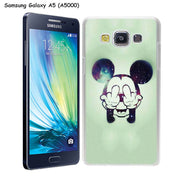 MOUGOL Fashion Cartoon Mickey Mouse Design Transparent Hard Case Cover For Samsung Galaxy A3 A5 A6 A7 A8 2016 2017 2018 Plus