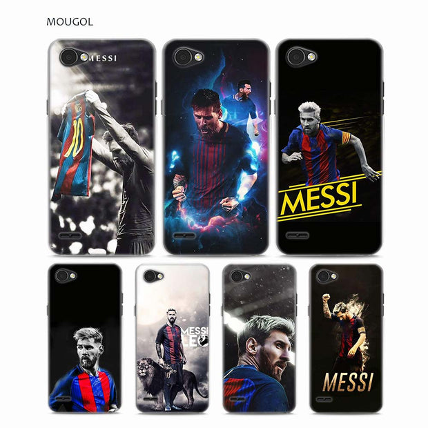 MOUGOL Lionel Messi Design Transparent Hard Phone Case Cover For LG Q6 G3 G4 G5 G6 G6Mini V10 V20 V30