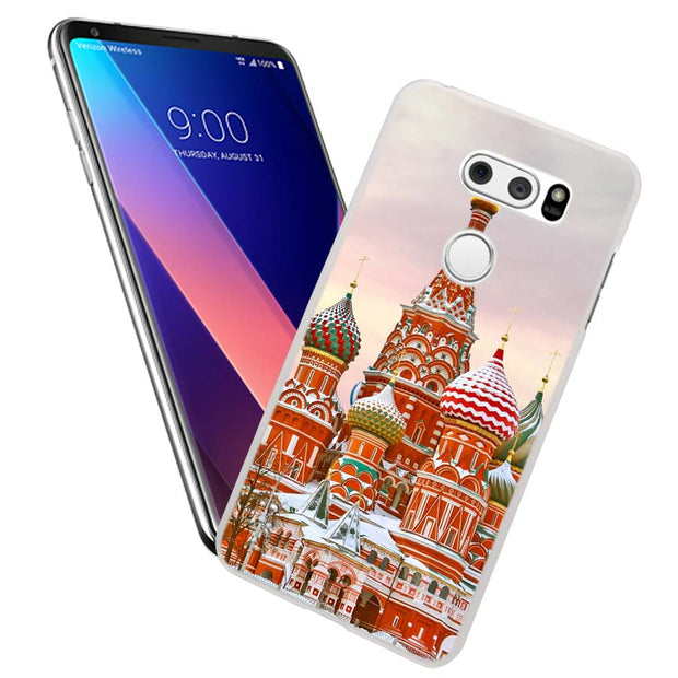 MOUGOL Moscow Art Russian Design Transparent Hard Case Cover For LG Q6 G3 G4 G5 G6 K4 K5 K8 K10 V10 V20 V30