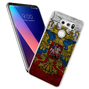 MOUGOL Russian Federation Flag Design Transparent Hard Case Cover For LG Q6 G3 G4 G5 G6 K4 K5 K8 K10 V10 V20 V30