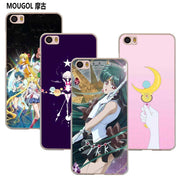 MOUGOL Sailor Moon Anime Transparent Case Cover Shell For Xiaomi Redmi Note MI A1 4X 5 5A 4 4A 3 Plus 5X