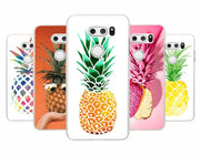 MOUGOL Summer Beach Pineapple Design Transparent Hard Phone Case Cover For LG Q6 G3 G4 G5 G6 G6Mini V10 V20 V30