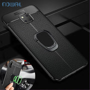 Magnetic Ring Carbon Fiber Case For Huawei Mate 20 10 9 Lite Mate20 Pro Car Holder Cover For Huawei P20 Pro P10 Plus P9 P8 Lite
