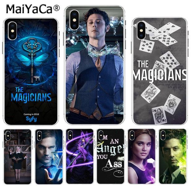 MaiYaCa American Tv Series The Magicians Hot Printed Cool Phone Accessories Case For IPhone 8 7 6 6S Plus X XS Max 10 5 5S SE XR