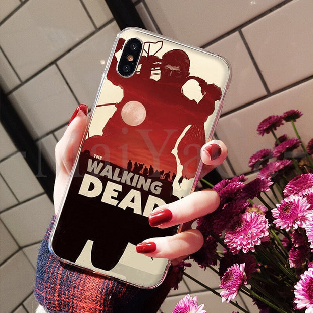 MaiYaCa American Series Fear The Walking Dead Colorful Phone Cover For Apple IPhone 8 7 6 6S Plus X XS Max 5 5S SE XR Cover