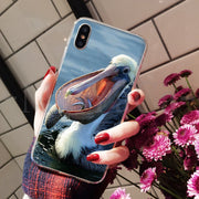 MaiYaCa Animal Bird Pelican 2018 Colored Drawing Phone Case For Apple IPhone 8 7 6 6S Plus X XS Max 5 5S SE XR Mobile Cover