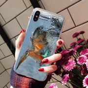 MaiYaCa Animal Bird Kingfisher Luxury Quality Phone Case For IPhone 8 7 6 6S Plus X XS Max 10 5 5S SE XR Coque Shell