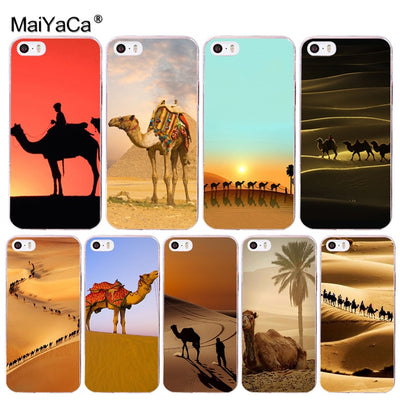 MaiYaCa Animal Camel Desert Painted Cover Colourful Style Phone Case For Apple IPhone 8 7 6 6S Plus X 5 5S SE 5C 4 4S Cover