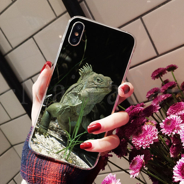 MaiYaCa Animal IGuana Chameleon Lizard Newest Super Cute Phone Cases For Apple IPhone 8 7 6 6S Plus X XS Max 5 5S SE XR Cover