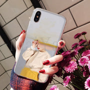 MaiYaCa Art Portrait Girl Pattern Adorable Colored Drawing Back Phone Cover For Apple IPhone 8 7 6 6S Plus X XS Max 5 5S SE XR