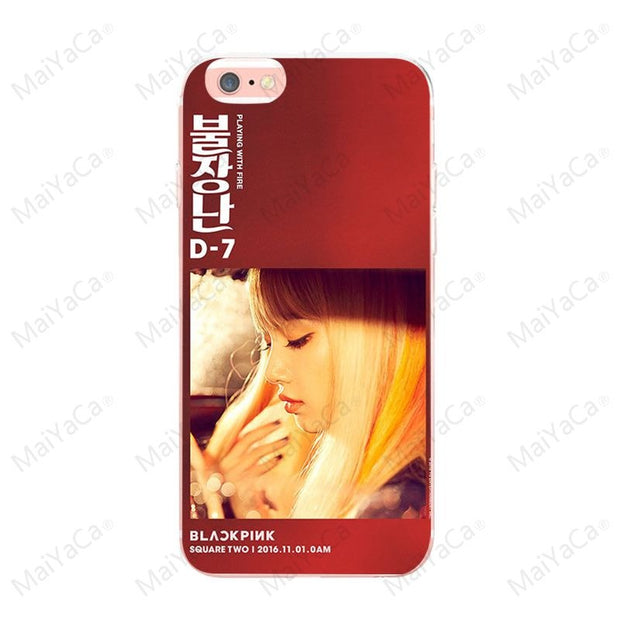 official photos b9d66 9ae2d MaiYaCa BLACKPINK JISOO JENNIE ROSE LISA For Iphone 6 6plus Case For ...