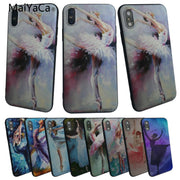 MaiYaCa Ballet Girl Dancing Painting For Iphone 7 7plus 6 6s Luxury High TPU Phone Case For Iphone X 8 8plus For Iphone 5S 5C