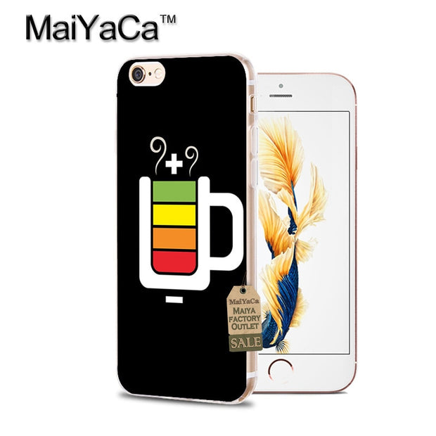 new style f075b 1ab16 MaiYaCa Battery Life Cycle Funny Newest Super Cute Phone Cases For ...