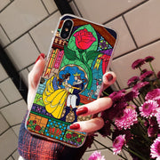 MaiYaCa Beauty Beast Rose Princess Art Print Soft TPU Silicone Phone Case For IPhone 8 7 6 6S Plus X XS Max 10 5 5S SE XR