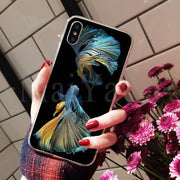 MaiYaCa Betta Fish Top Detailed Popular Phone Case For IPhone 8 7 6 6S Plus X XS Max 10 5 5S SE XR Coque Shell