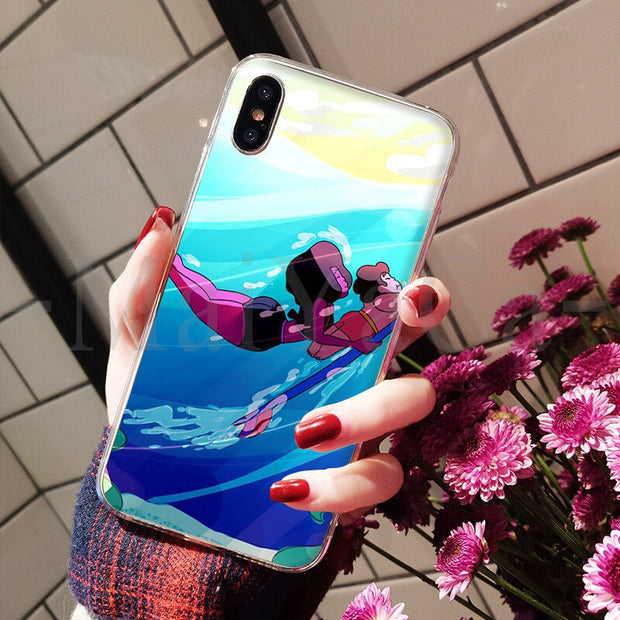 MaiYaCa Cartoon Steven Universe Simple Soft TPU Cases Fashion Color Phone Cover For IPhone 8 7 6 6S Plus X XS Max 5 5S SE XR