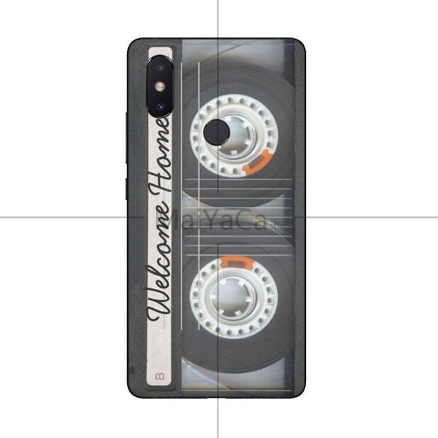 MaiYaCa Cassette Tape Cover Cases Silicon For Xiaomi Mi8 Mi6 Max2 Max3 4X Redmi 5 Redmi Note 5