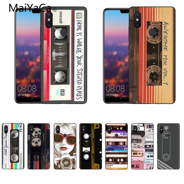 MaiYaCa Cassette Tape Soft Silicon Cover Cases For Xiaomi Mi8 Mi6 Max2 Max3 4X Redmi 5 Redmi Note 5