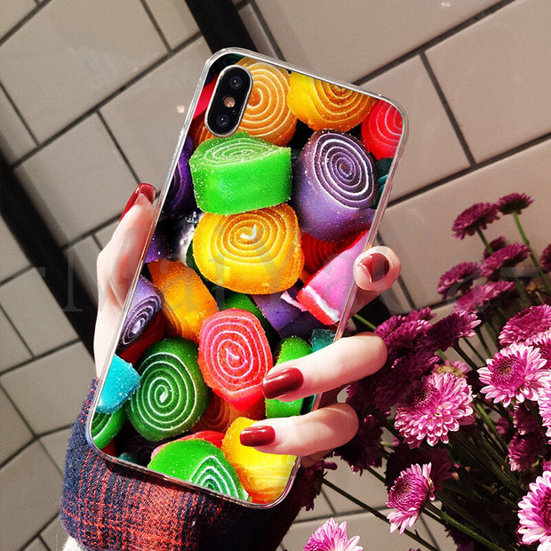MaiYaCa Colorful Candy Soft TPU Silicone Luxury Phone Accessories Cover For IPhone 8 7 6 6S Plus X XS Max 10 5 5S SE XR Cover