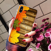 MaiYaCa Colorful Wood Soft TPU Silicone Colorful Phone Accessories Case For IPhone 8 7 6 6S Plus X XS Max 10 5 5S SE XR Cover