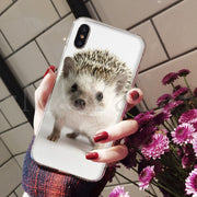 MaiYaCa Cute Animal Little Hedgehog On Sale Luxury Cool Phone Accessories Case For IPhone 8 7 6 6S Plus X XS Max 5 5S SE XR