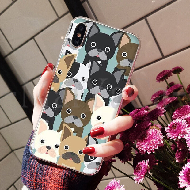 MaiYaCa French Bulldog Cute Phone Accessories Case For Apple IPhone 8 7 6 6S Plus X XS Max 5 5S SE XR Cover