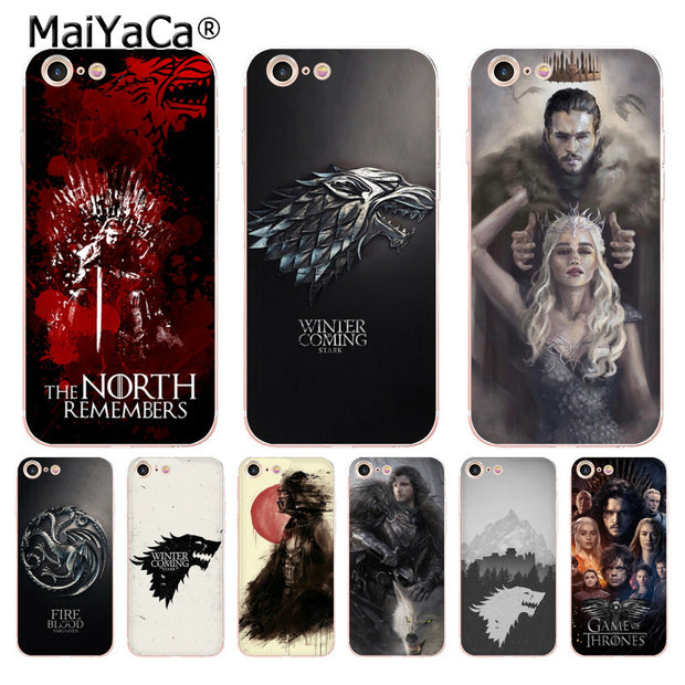 MaiYaCa Game Thrones Daenerys Dragon Jon Snow Tyrion Lannister Phone Accessories Case For IPhone 8 7 6S Plus X XS XR 5S Cover