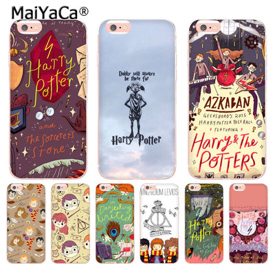 MaiYaCa Harry Potter And The Sorcerer's Stone Ultra Thin Cartoon Pattern Phone Case For IPhone X 6 6s 7 8 8Plus 5 5S 5C Case