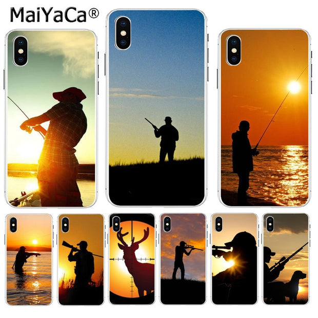 MaiYaCa Hunting Animal And Fishing Man Diy Luxury High-end Protector Phone Cover For IPhone 8 7 6 6S Plus X XS Max 10 5 5S SE XR