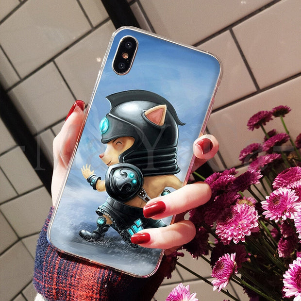 MaiYaCa League Of Legends Teemo Cute Phone Accessories Case For Apple IPhone 8 7 6 6S Plus X XS Max 5 5S SE XR Mobile Cover