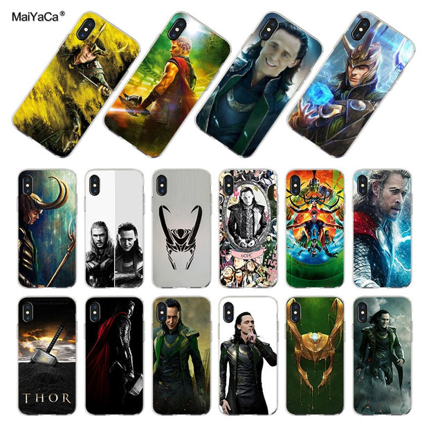 best service 23616 cd354 MaiYaCa Marvel Hero Loki Transparent Soft Phone Case Cover For IPhone 8 7  6S Plus Xs 5S SE 5C XR Cases Funda Coque For Iphone X