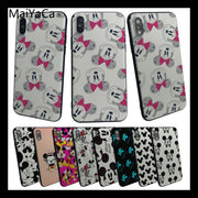 MaiYaCa Mickey Mouse Ears Painted Cover Style Design Phone Case For Apple Iphone 5 5s 5c SE And 6 6s 7 7plus 8 8plus Phome Case