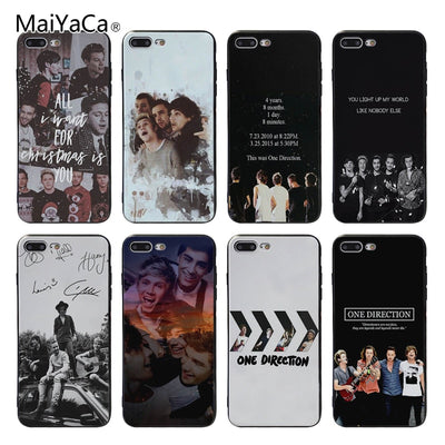 MaiYaCa One Direction Luxury Cell Phone Cases For Apple Iphone X XSMax XR XS 8 8plus 7 7plus 6s 6plus 5 5s SE Mobile Cover Case