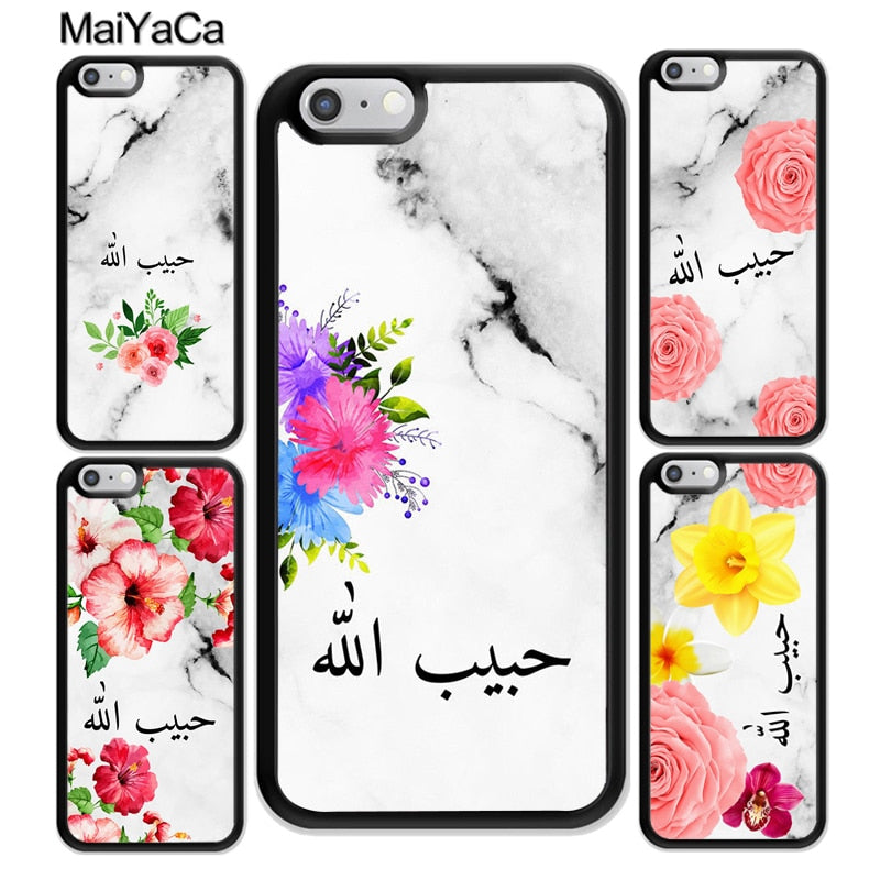online store 6e8eb ed395 MaiYaCa Personalised Arabic Name Flower Printed Soft Rubber Phone Case For  IPhone 6S 7 Plus 8 X XR XS MAX 5S SE Back Cover Shell